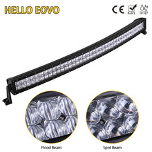 HELLO EOVO 5D 42 inch 400W Curved LED Light Bar for Work Indicators Driving Offroad Boat Car Tractor Truck 4x4 SUV ATV 12V 24V(China)