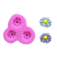 New Arrival Daisy Flower Cake Shaped Gum Paste Soap Chocolate Decoration DIY Tool Silicone Cake Mold Baking Tools Bakeware Maker(China)