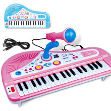 Children's Musical Instruments 37 Keys Charging Microphone Electronic Organ Multifunctional Music Piano Toy