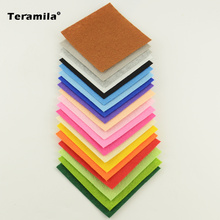 1MM thick 20 Basic Colors Mix Polyester Felt Fabric Cloth For DIY Handmade Sewing Home Child Doll 15cmx15cm 5.9inchx5.9inch(China)