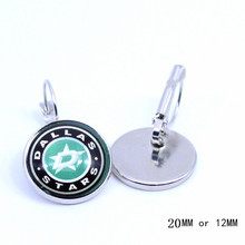 NHL Dallas Stars Earings Ice Hockey Charms Glass Cabochon French Hook Earrings for Women Jewelry Fashion 2017(China)