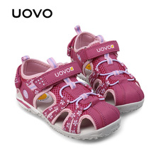 UOVO children sandals 2017 sandals for little girls summer kids shoes Eur 26-36#(China)