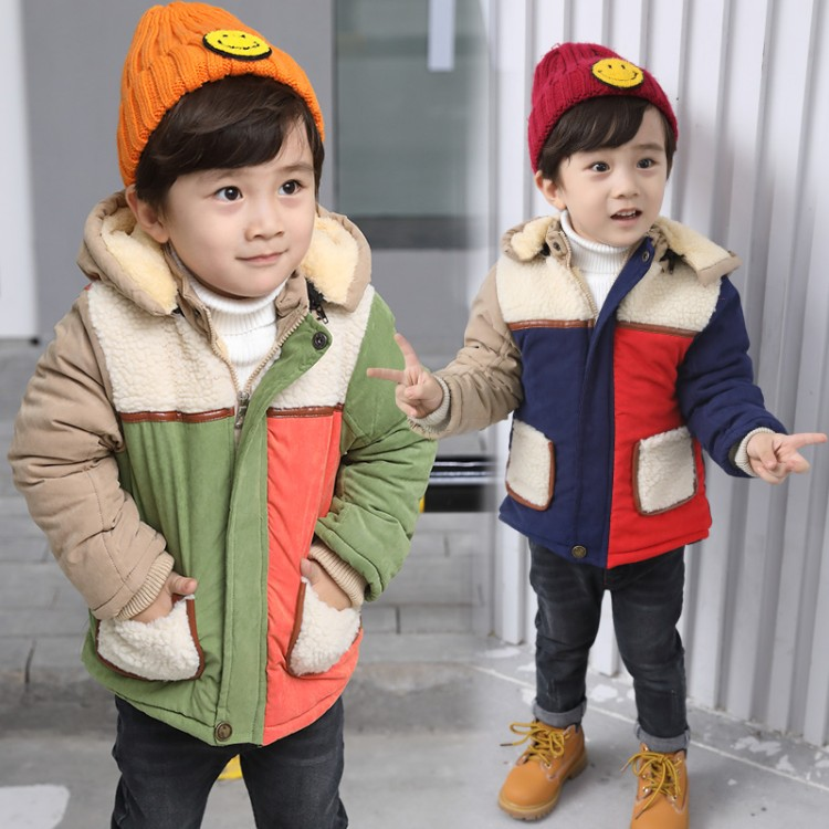 2017 Childrens Clothes Autumn winter Cartoon Baby Boys Girls Coat Outwear Jackets Hoodies Cardigan for Kids thicken Jacket <br>