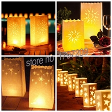 10 Pcs/lot Heart Tea Light Holder Luminaria Paper Lantern Candle Bag For Bbq Christmas Party Home Outdoor Wedding Decoration