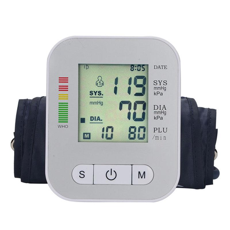 Digital Arm Blood Pressure Monitor Household Health Care Electronic Tonometer Sphygmomanometer Measurement Pulse Monitors 9