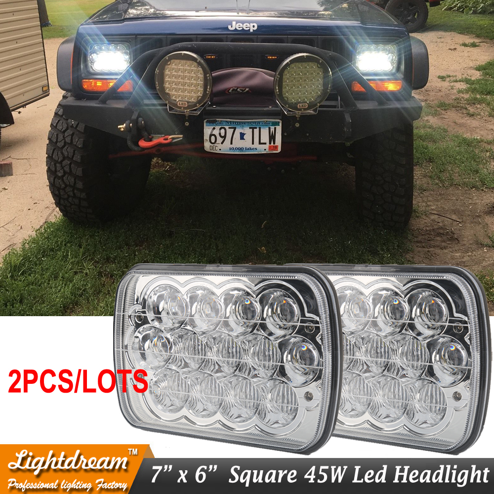 7X6 LED Headlight Sealed Beam with Blue light for E350 E150 Chevrolet F250 F350 Super Duty K1500 pickup Ranger Truck 2pcs/lots<br>