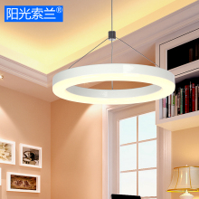 Modern simple LED lighting White Ring chandelier for diningroom bar table study office LED 12W AC90V-260V ceiling chandelier