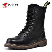 Z. Suo women boots, canister boots restoring ancient ways of fashion women, high quality with ladies boots. botas mujer zs6818(China)
