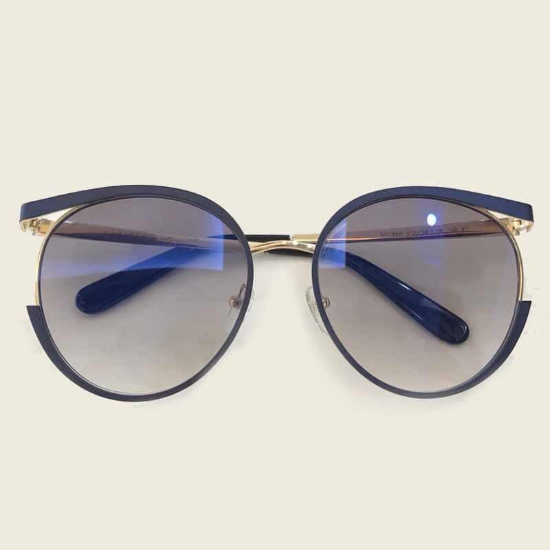 2018 New Fashion Round UV400 Lens Sunglasses Women Cat Eye Style Vintage Fashion Female Sun Glasses Alloy Frame Gradient Lens
