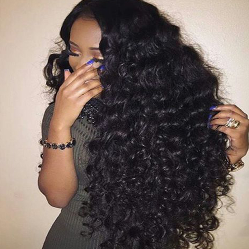 Cambodian Deep Wave Virgin Hair 4 100% Unprocessed Human Hair Cambodian Deep Curly Hair Weave Bundles For Black Women Full&amp;Thick<br><br>Aliexpress