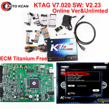 100% No Token Use OnLine Newest KTAG 7.020 V2.23 ECU Programming Ktag v2.13 update to v2.23 Bdm Frame as a Gift  Master Version