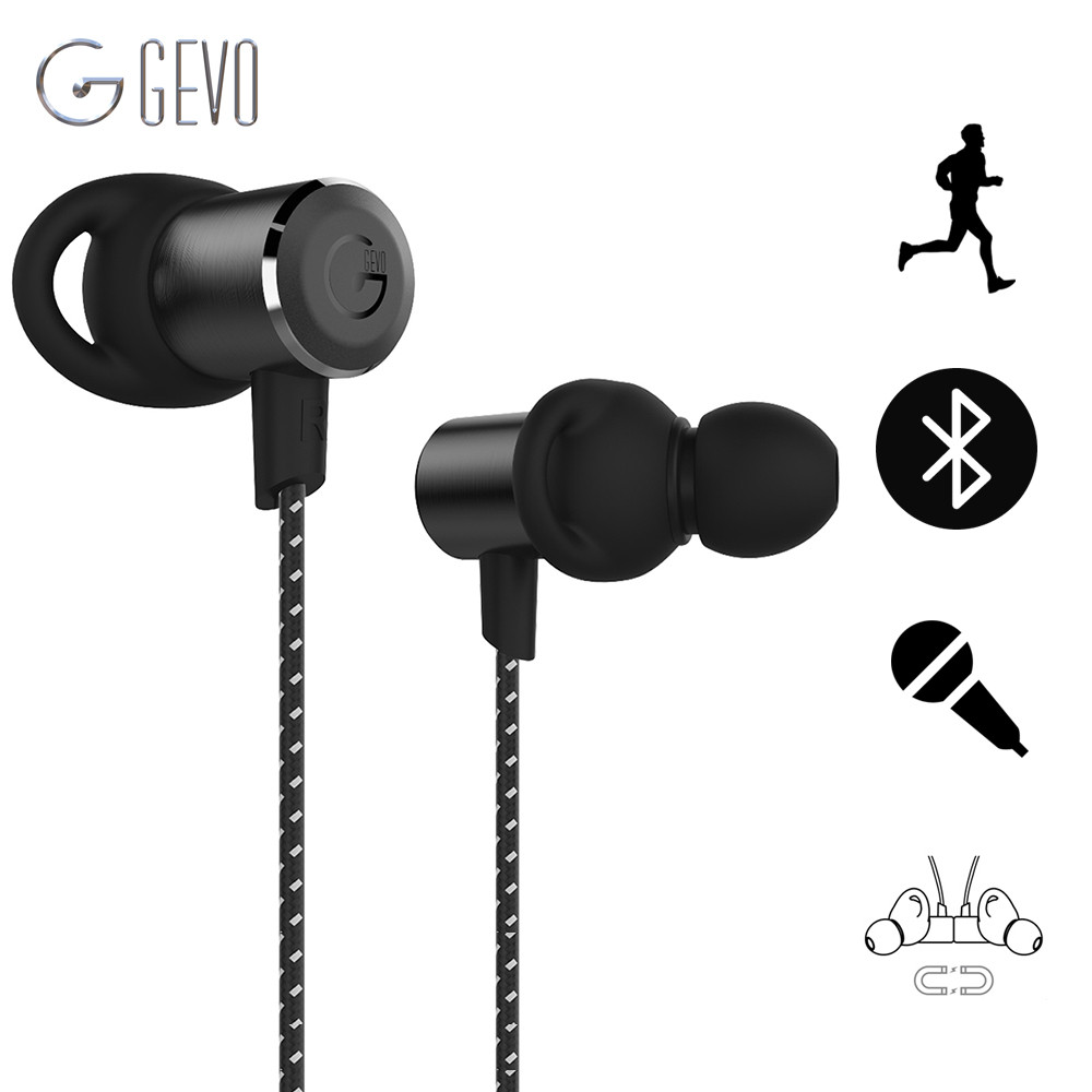 Newest Original GEVO GV18-BT Bluetooth Earphone Magnetic Adsorption BT 4.1 Headset Wireless HiFi Stereo Running Athlete Earbuds<br>