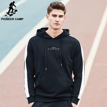 Pioneer Camp 2017 nouveau Printemps sweat à capuche hommes marque clothing mode mâle hoodies top qualité casual survêtements AWY702022