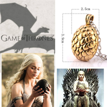 game of thrones necklace song of ice and fire dragon egg vintage retro pendant for men and women wholesale