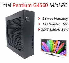 Aluminum Case Mini PC With Intel Pentium G4560 2C4T Max 3.5GHz 54W, 8G DDR4 RAM 256G SSD Gaming Desktop Computer, HDMI+VGA HTPC