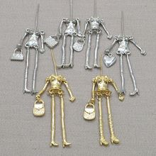 10pcs/lot Fashion Doll necklace findings parts accessories parts doll pendant body with arms and feet Dress up DIY by yourself(China)