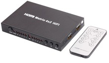 Tomsenn HDMI matrix 4x2  switch for HD 1080P with SPDIF Digital Surround or Hi-Fi Stereo Audio Output