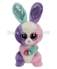 Ty Beanie Boos Plush Animals Rabbit 6'' 15cm Peluche Toy Big Eyes Cute Bunny Stuffed Animals Soft Kids Toys for Children Gifts