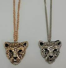 tiger totem Free Shipping promotion Wholesale quality Rhinestones quality charm Leopard necklace Sweater chain fashion jewelry