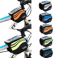 Buy MTB Bicycle Road Bike Screen Touch Screen Bicycle Phone Bag Mobile Cycling Bags Front 5.7 Inch Cell Phone Bag Bike #K105C# for $5.77 in AliExpress store
