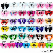 300pcs/lot 37 Color 1.8'' Mini Sequined Bow Knot Appliques Custom For Sewing Craft Hair Accessories Wholesale Supply HDJ108