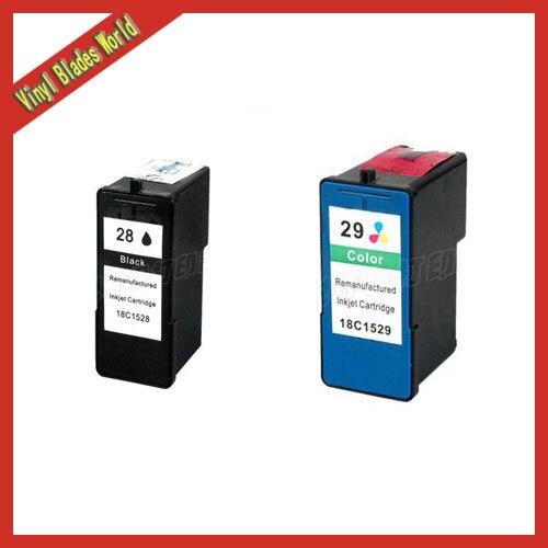 2pcs Ink Cartridge for Lexmark 28 29 Tri-Color/Black For Lexmark28 29 For Lexmark Z845<br><br>Aliexpress