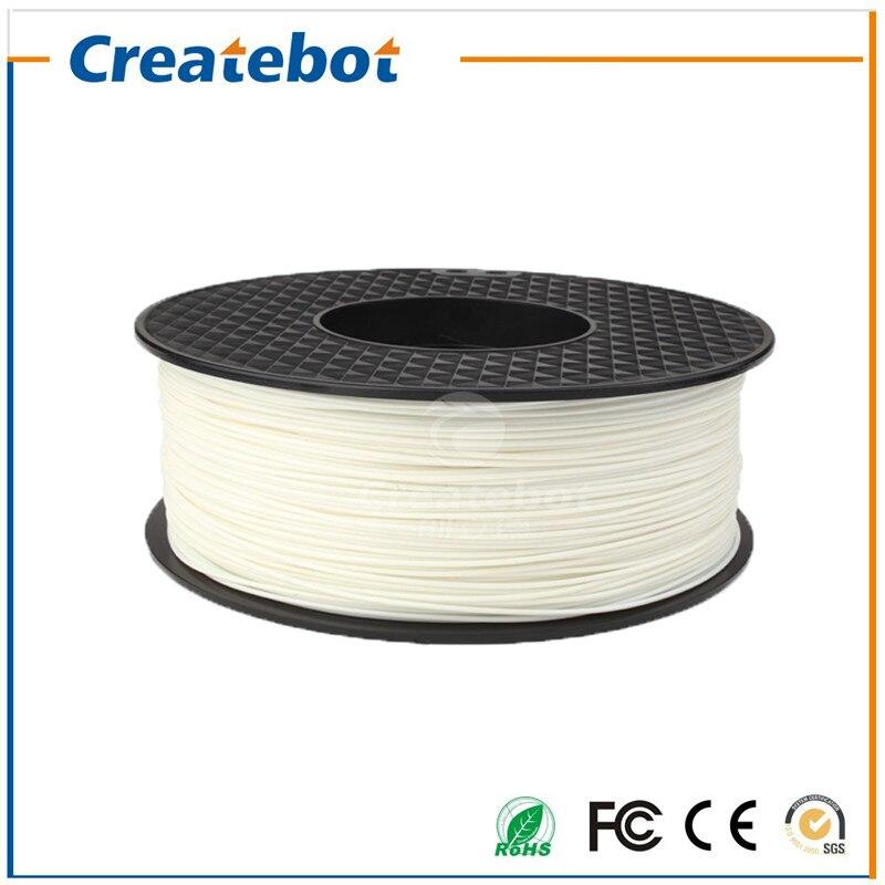 Natural Original Color Favorable Price Professional Factory  3D PLA Filament for 3D Printer 1.75mm 1KG Createbot PLA Filament<br>