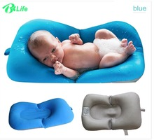Non-Slip Infant Newborn Baby Bath Pad Bathtub Mat Support Baby Shower Portable Air Cushion Infant Bed