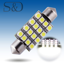 41mm 16 SMD White Dome Festoon LED Light Bulb Lamp Auto c5w led car bulbs interior Lights Car Light Source parking 12V
