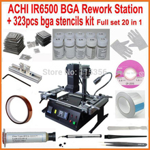 Original ACHI IR6500 bga rework station + 323pcs bga stencils solder flux reball station completely 20 in 1 bga reballing kit(China)