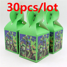 30pcs Decoration Ninja Turtle Candy Box Party Paper Food Gift box Baby Shower Kids favor Tableware Set Decor Birthday Supplies