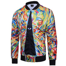 Shopping Pakistan Promotion Cotton Sari Sari India 2017 Spring And Autumn New Men's Casual Jacket Digital Printing Korean Coat