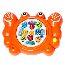 Electric Cartoon Crab Magnetic Magnet Fishing Toys Educational Toy for Kid ,Kid Children Educational Toy Game,Fishing Game #1JT