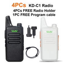 4PCs WLN KD-C1 Walkie Talkie with USB program Cable Two Way Radio 5W long range better than BAOFENG BF-888S UHF FM Transceiver