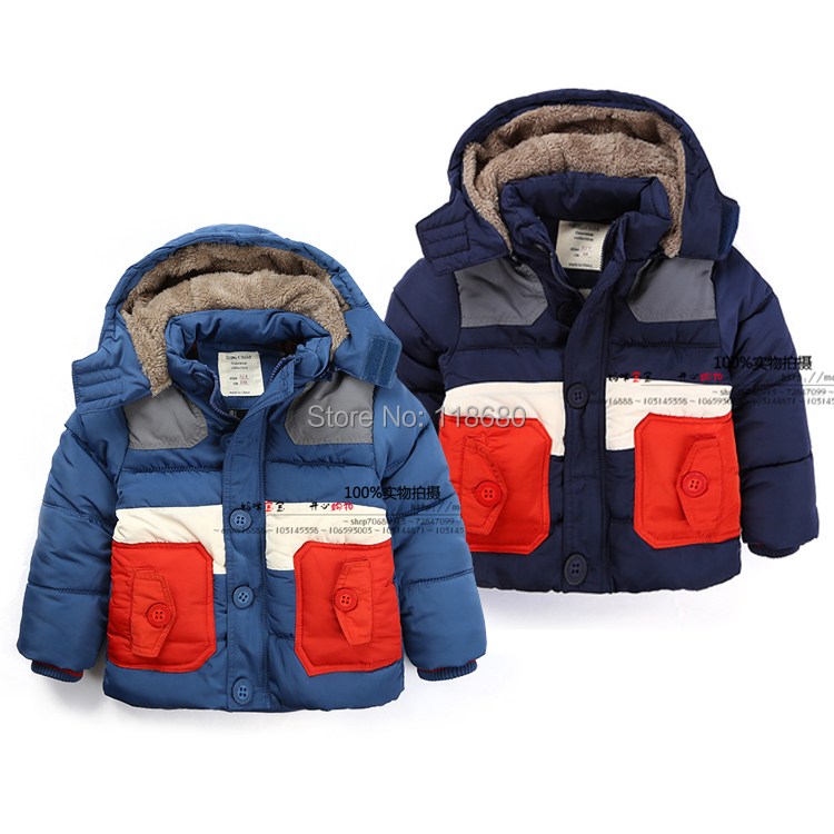 Fashion winter jacket children clothing kids casual wadded jackets boys cool thick warm parka baby outerwear<br>