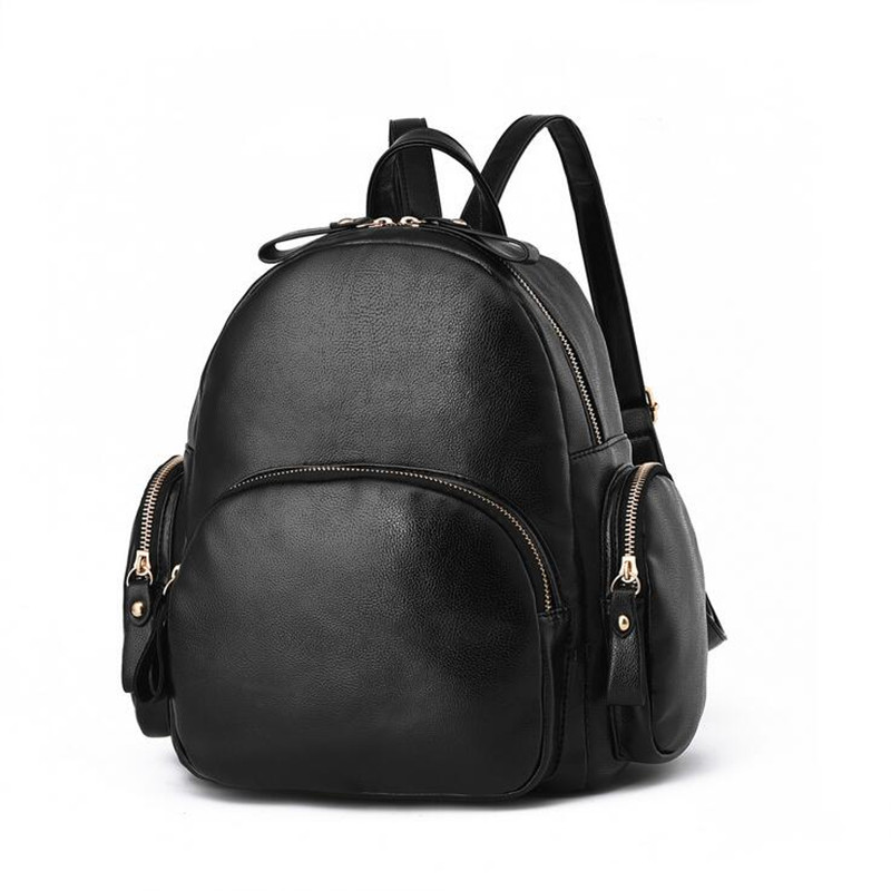 Korean 2017 Fashion Women Leather Backpacks PU Leather Casual Shoulder School bags Teenagers Girls College Backpack<br><br>Aliexpress