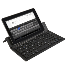 Foldable Bluetooth Keyboard Wireless Keyboards Ultra Slim Pocket Keyboard with Kickstand Universal for Smart Phone Tablet PC(China)
