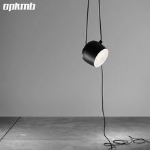 modern pendant light big drum drop light fixture clothing store/living room/office /dinning room lamp(China)