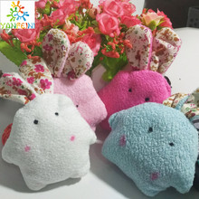 50 PCS 10CM Pearl Rabbit Random Colors Plush TOY rabbit DOLL Phone Strap DOLL Stuffed TOY Wedding Gift Bouquet Decor DOLL TOY