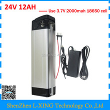 Electric bike battery 24v 12ah 350W 24 V 12AH Silver fish battery 15A BMS with 2A Charger Bottom discharge Free customs fee