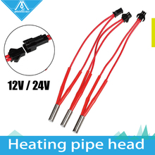 NEW!!!Reprap12V/24V 40W Simple replacement  A end line length Ceramic Heater Cartridge for 3D Printer Prusa Mendel
