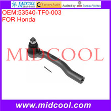 High Quality Auto Parts Front Axle Right Steering Tie Rod End OEM:53540-TF0-003