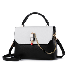 Luxury Handbags Women Chain Messenger Bag Lipstick Lock Designer Woman Black&White Tote Bag Famous Brand Leather Bags Sac A Main