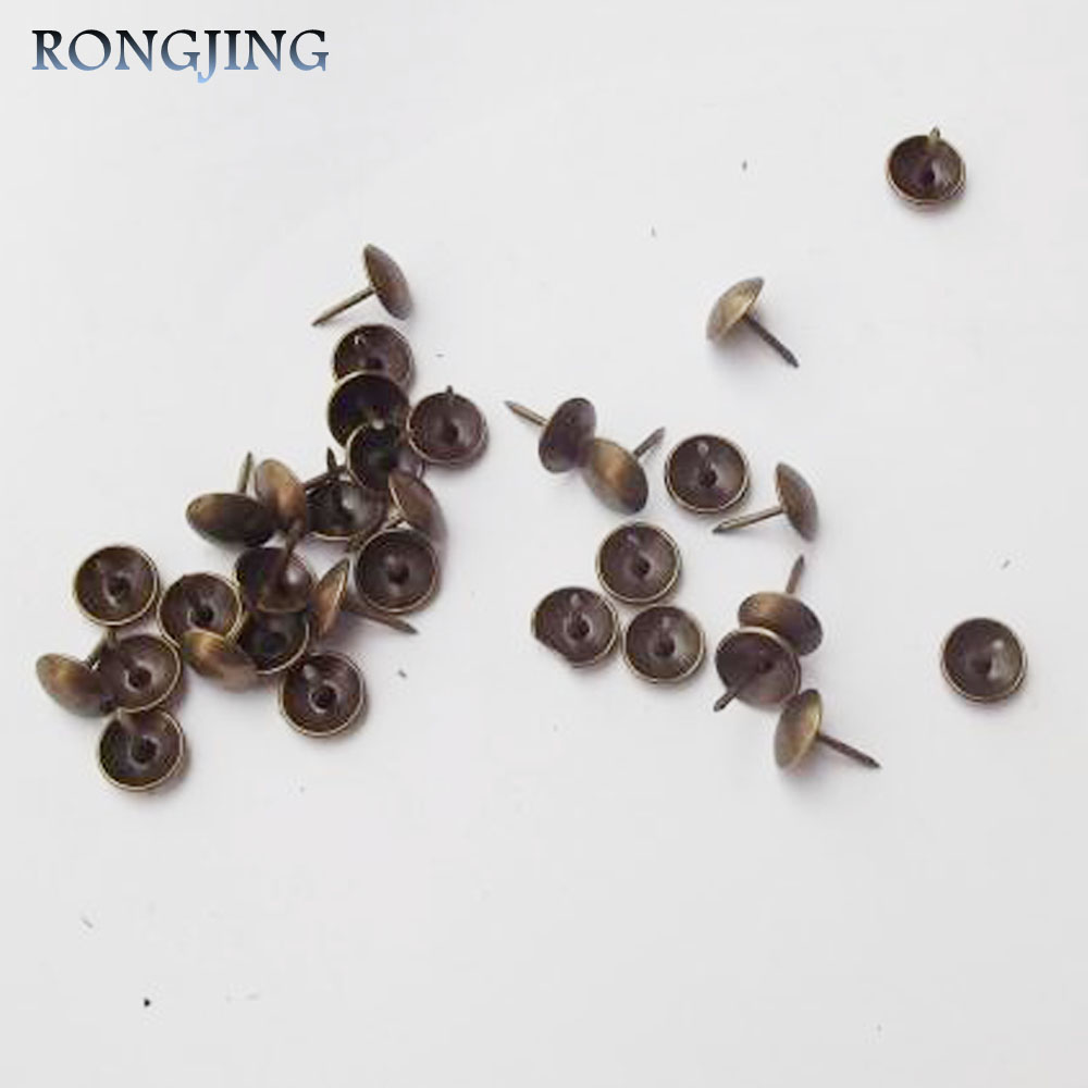 100pcs Bronze Diy Wooden Accessories Corners Fixed Antique Rivets Bubble Nails Decorative Vintage Furniture Sofa 9x13mm In From Home