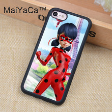 MaiYaCa miraculous ladybug Printed Soft TPU Skin Cell Phone Cases For iPhone 6 6S Plus 7 7 Plus 5 5S 5C SE 4 4S Back Cover Shell(China)