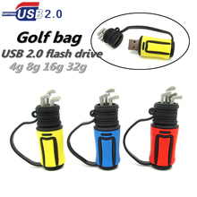 cool golf ball bag model usb flash drive U disk pen drive special gift Pendrive 4GB 8GB 16GB 32GB