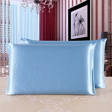 JULY'S SONG Silk Pillowcase High Quality Both Sides 100% Pure Mulberry Silk Soft Comfortable 19 Momme Silk Pillow Case 50*75 Cm(China)