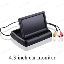 4.3 inch TFT Color digital HD video lcd for vehicle reversing parking backup rear view camera car monitor small display sale