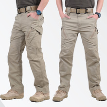 GEJIAN Pantalones Hombre Cargo-Pants SWAT Combat Military IX9 Casual City Men