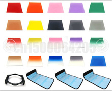 24 in 1 ND2 4 8 +Gradual Graduated square filter+full color filter+Filter holder bag case for Cokin P(China)